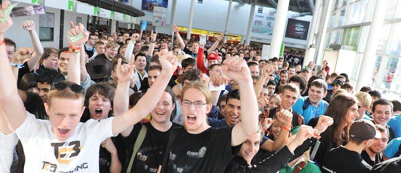 """Auf der Gamermesse """"Gamescon"""" treffen sich im Agust 2015 wieder Fans der elektronischen Spielekultur. Foto: Messe Köln"""