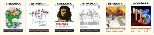 Die letzten 6 Kompass-Ausgaben unter http://kompass.im/kompass-archiv/