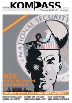 Der NSA Kompass erschien im August 2013 als Sonderausgabe für PIRATEN-Kryptopartys