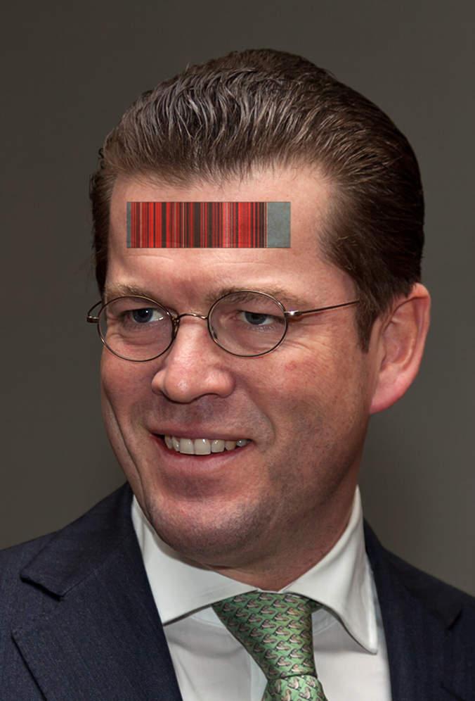 Mashup vom Guttenplag-Wiki und Wikipedia-Portraitfoto unter CC Zero
