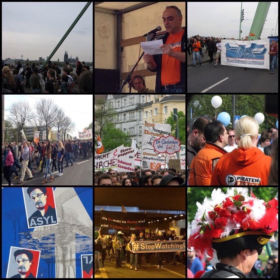 Bilder von der Demo #stopwatchingus Köln (Fotos CC Zero stm)