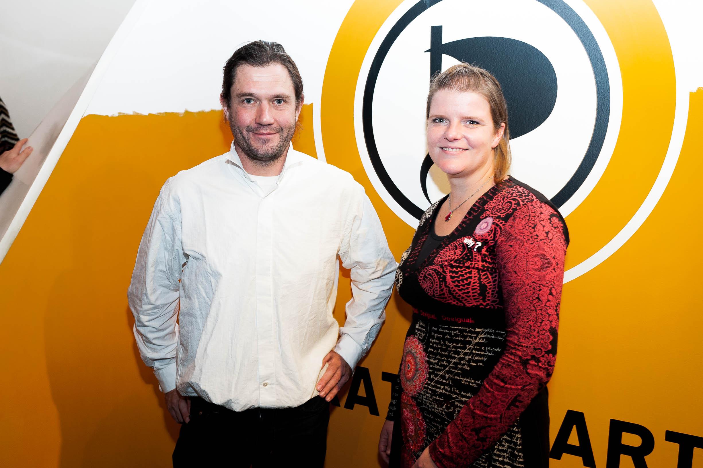 Britta Stephan und Christopher Schrage - Mitarbeiter in der LGS der Piratenpartei NRW – Foto Christian Steinmetz CC-BY-SA
