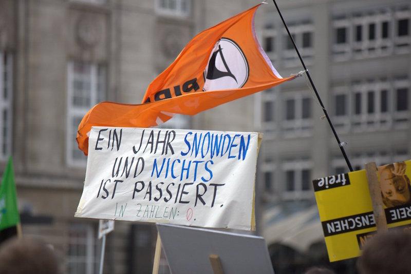 Piraten HH bei Freiheit statt Angst Demo HH, Foto CC-BY nocke.de