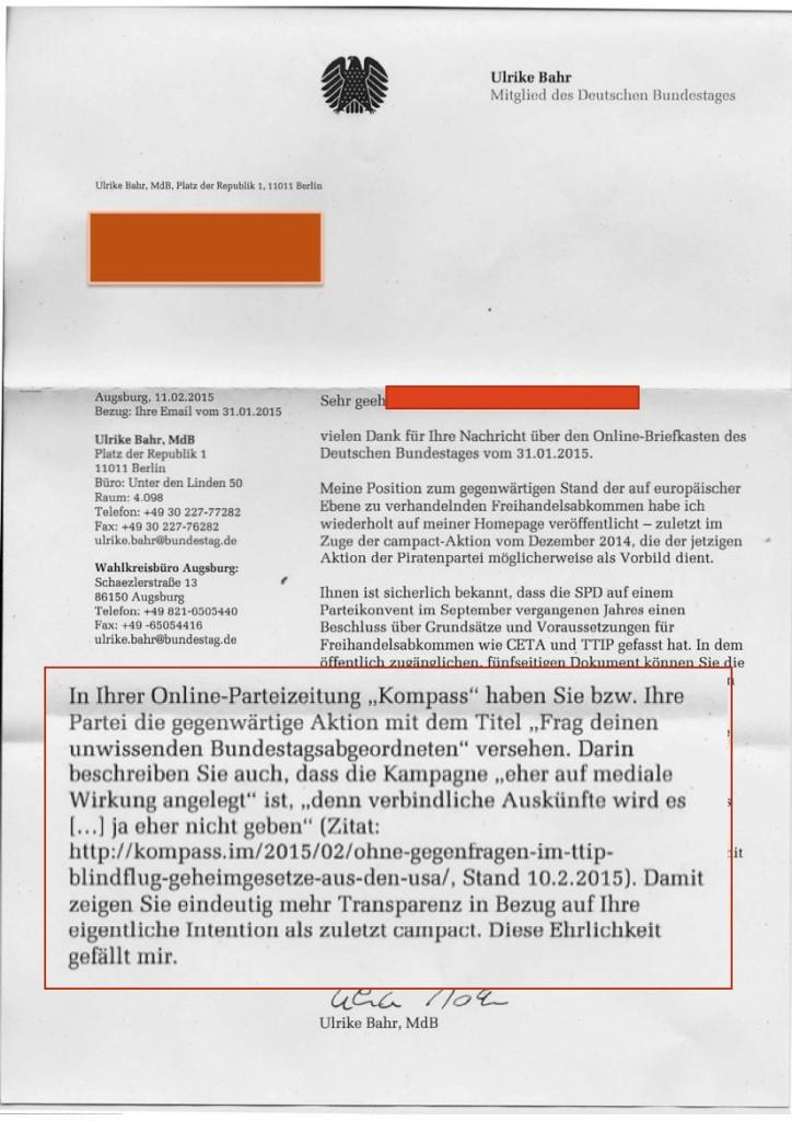 TTIP Antwort Ulrike Bahr2