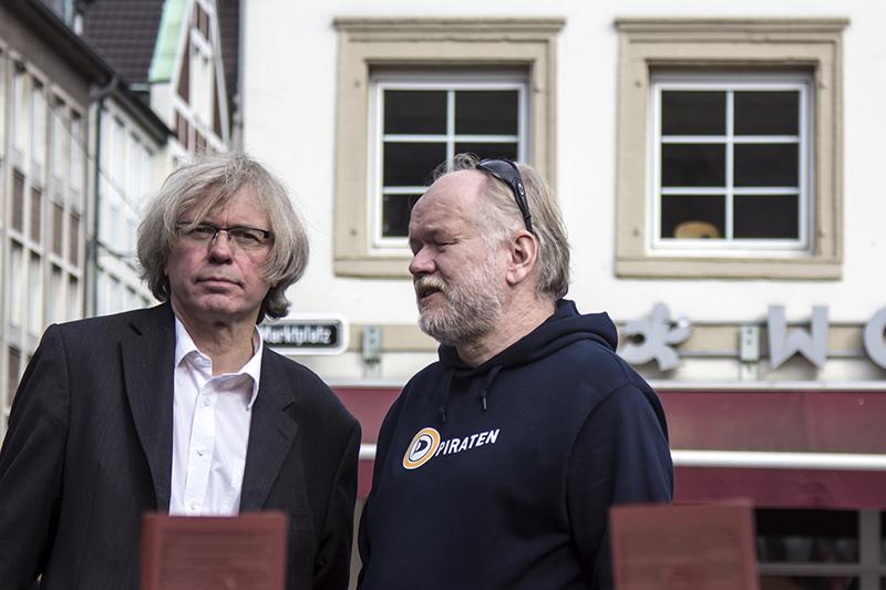 ANTI-TTIP-DEMO - DUESSELDORF - JOERG EICHENAUER - JOACHIM PAUL -