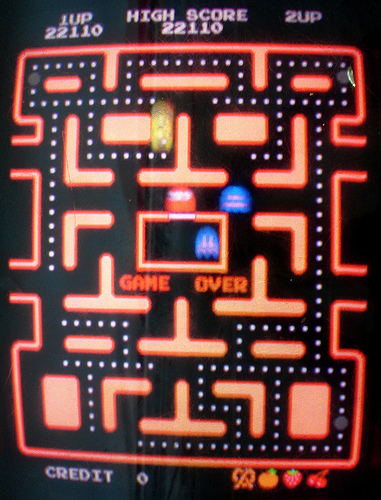 gameover pacman